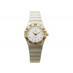 NEUF MONTRE OMEGA CONSTELLATION EN OR JAUNE 18K& ACIER 24 MM QUARTZ WATCH 3400€