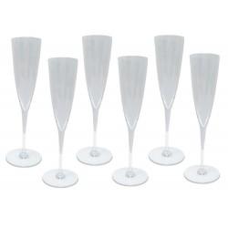 NEUF 6 COUPES A CHAMPAGNE BACCARAT DOM PERIGNON VERRES EN CRISTAL GLASSES 600€