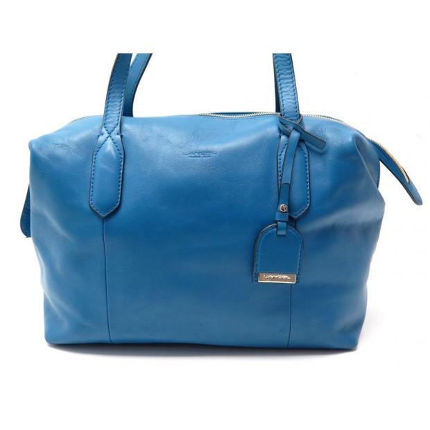 SAC A MAIN LANCEL LES RENDEZ VOUS A06258 CABAS EN CUIR BLEU HAND BAG BLUE 750€