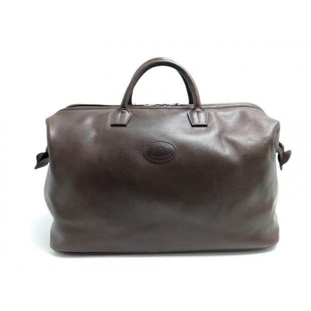 SAC DE VOYAGE LONGCHAMP 45 CM EN CUIR GRAINE MARRON BAGAGE LEATHER LUGGAGE 590€