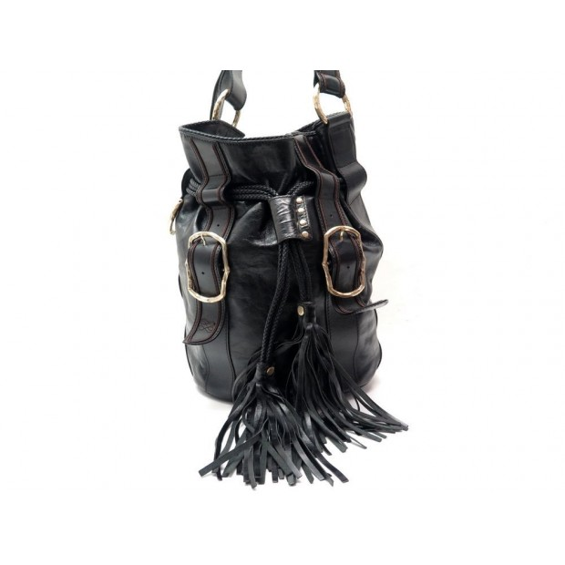 SAC A MAIN LANCEL HOMMAGE AUX FEMMES PIRATES EN CUIR NOIR BLACK HAND BAG 1190€
