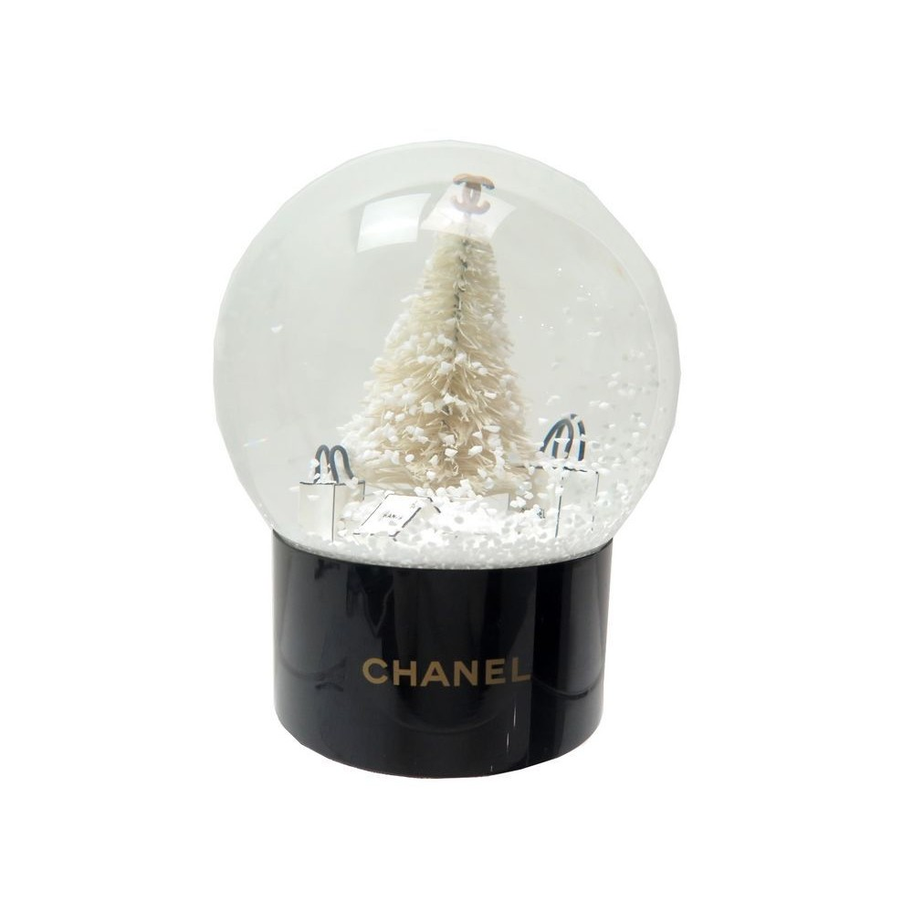 NEUF BOULE A NEIGE CHANEL SAPIN AVEC SACS A MAIN COLLECTOR + BOITE SNOW  GLOBE. Loading zoom 91841372828