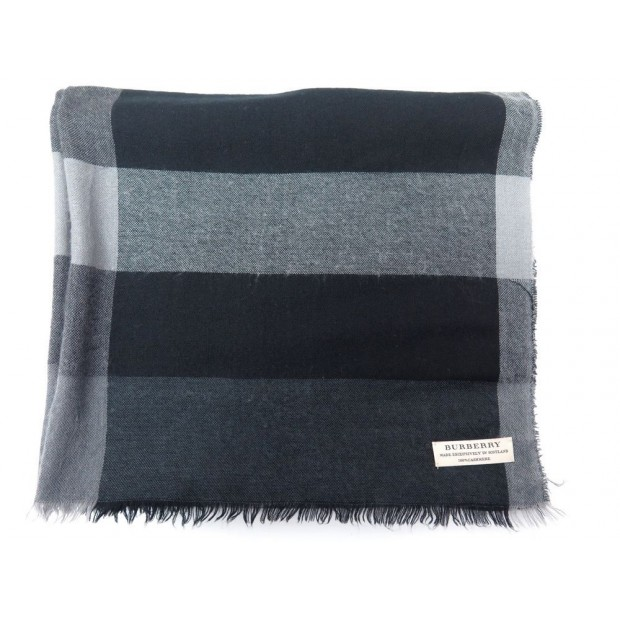 foulard burberry echarpe en cachemire gris noir grey f7b40fb64c6