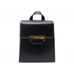NEUF VINTAGE SAC A DOS YVES SAINT LAURENT 20 CM EN CUIR NOIR BLACK BACKPACK BAG