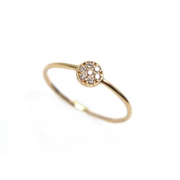 NEUF BAGUE DIAMANTISSIMO T53 OR ROSE ET DIAMANTS PINK GOLD & DIAMONDS RING 350€