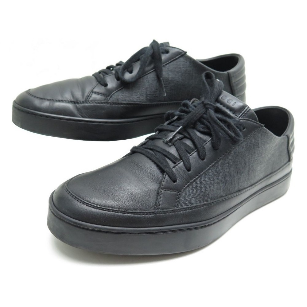 CHAUSSURE GUCCI BASKET TOILE NOIR 44.5. Loading zoom 26298477bc99