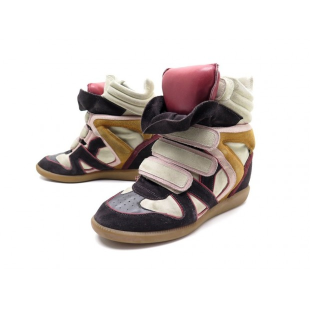 CHAUSSURES ISABEL MARANT WILLOW OVER BASKET T39 BASKET COMPENSEES SNEAKERS 440€