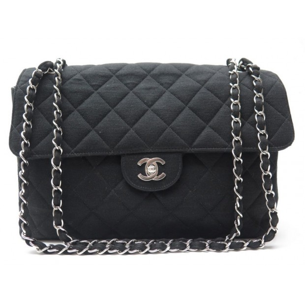 SAC A MAIN CHANEL TIMELESS JERSEY NOIR