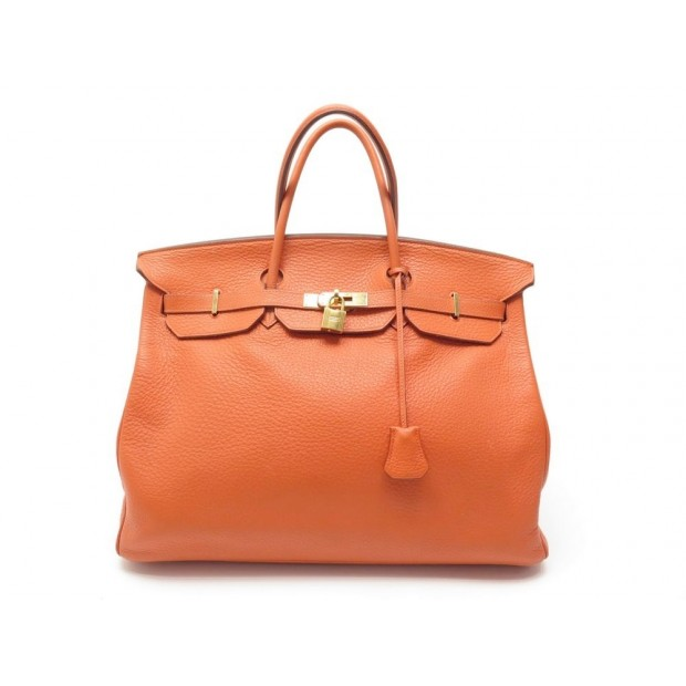 sac a main hermes birkin 40 en cuir togo orange 07029300b47