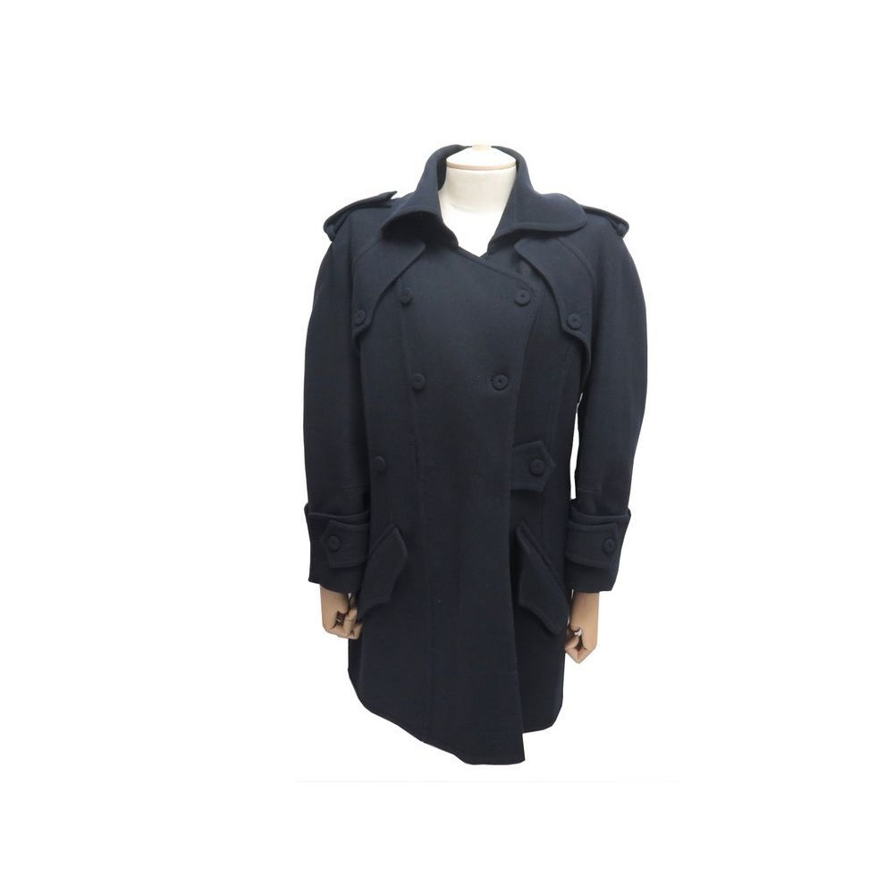 NEUF MANTEAU FENDI 44 IT 40 FR FEMME EN LAINE BLEUE MARINE BLUE WOOL COAT  1900. Loading zoom b50e9f8ce36