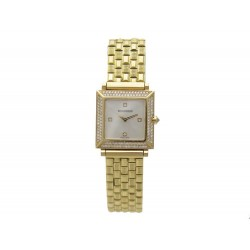 MONTRE BOUCHERON CARRE EN OR JAUNE 18K & DIAMANTS 23 MM QUARTZ YELLOW GOLD WATCH