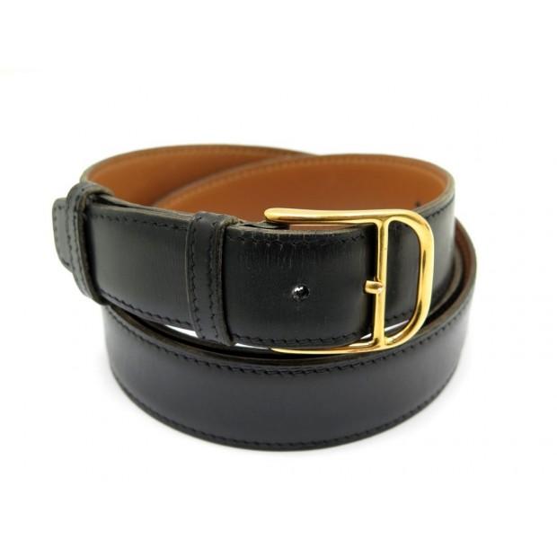 0a25229091e ceinture hermes etriviere t 95 en cuir box noir
