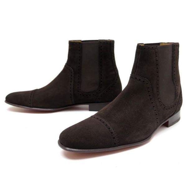 incroyable sélection grande remise de 2019 Style classique chaussures hermes 42.5 bottines chelsea en daim