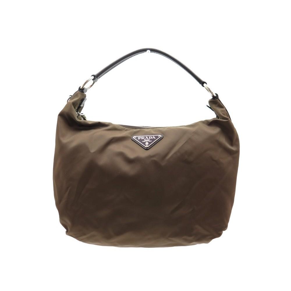 Sac A Main Prada Cabas En Toile Marron 38 Cm Hand Bag