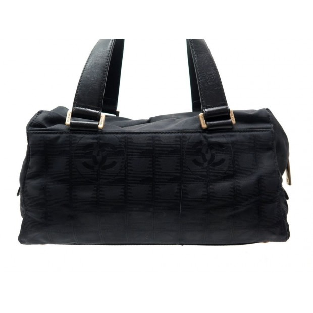 sac a main chanel boston 32 cm en toile logo cc noir ca9cbc9fd63