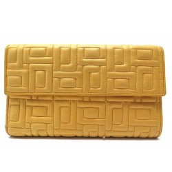 PORTEFEUILLE LANCEL COMPAGNON CUIR MATELASSE JAUNE QUILTED LEATHER WALLET 275€
