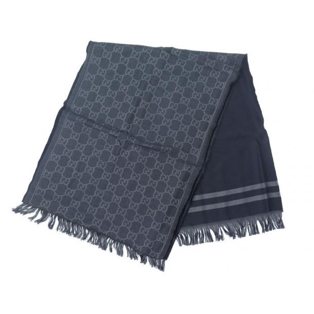 conception de la variété professionnel de premier plan profitez de la livraison gratuite etole gucci jacquard 100995 en laine bleu gris
