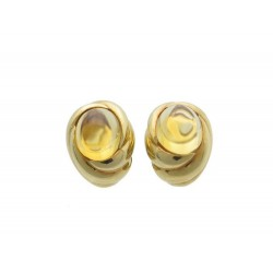 PAIRE BOUCLES D OREILLES BOUCHERON CLIP EN OR JAUNE 18K & CITRINE EARRINGS 3810€