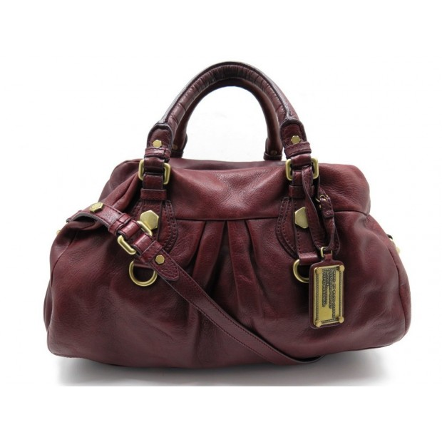 SAC A MAIN MARC BY MARC JACOBS CLASSIC Q GROOVEE CUIR ROUGE LEATHER HANDBAG 335€