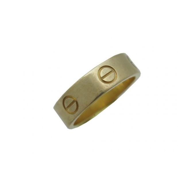 BAGUE CARTIER LOVE B4084652 EN OR JAUNE 18K TAILLE 52 CERTIFICAT GOLD RING 1600€
