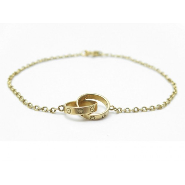 regard détaillé d3a7e 7529a bracelet cartier love b6027100 chaine en or jaune 18k
