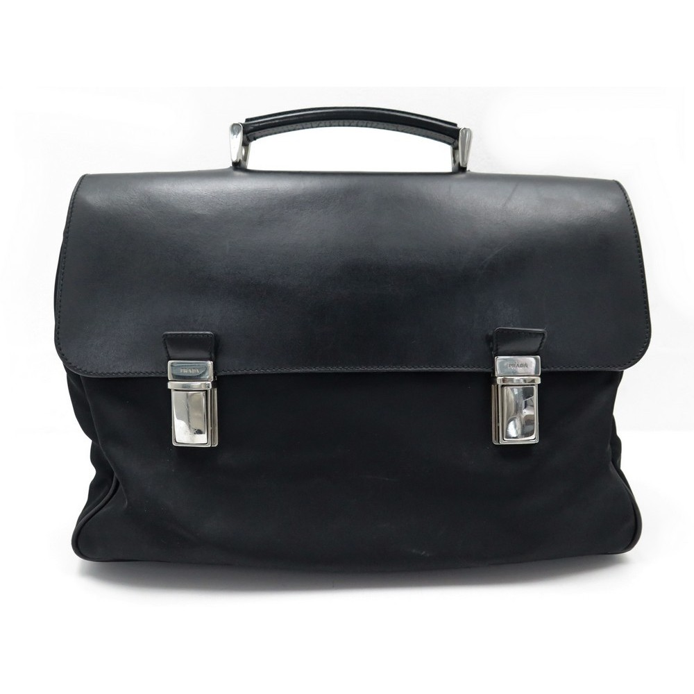 d0044263aece SACOCHE PRADA PORTE DOCUMENTS CARTABLE EN NYLON NOIR BLACK BUSINESS BAG  1200€