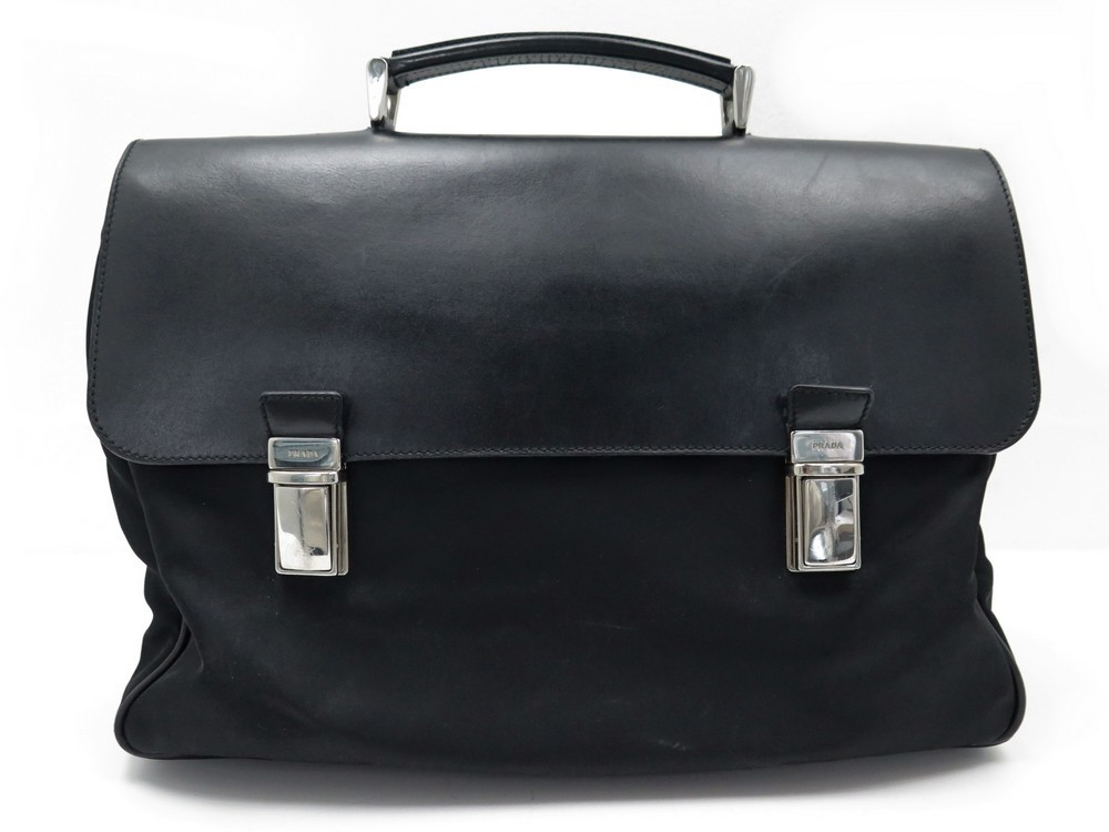 10a40faa77a9 sacoche prada porte documents cartable en nylon noir