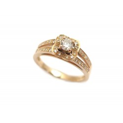 BAGUE MAUBOUSSIN SOLITAIRE CHANCE OF LOVE N2 T 51 OR ROSE & DIAMANTS RING 1195€
