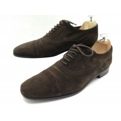 CHAUSSURES TOD'S RICHELIEU 7.5 IT 42.5 FR EN DAIM MARRON BROWN DEER SHOES 530€