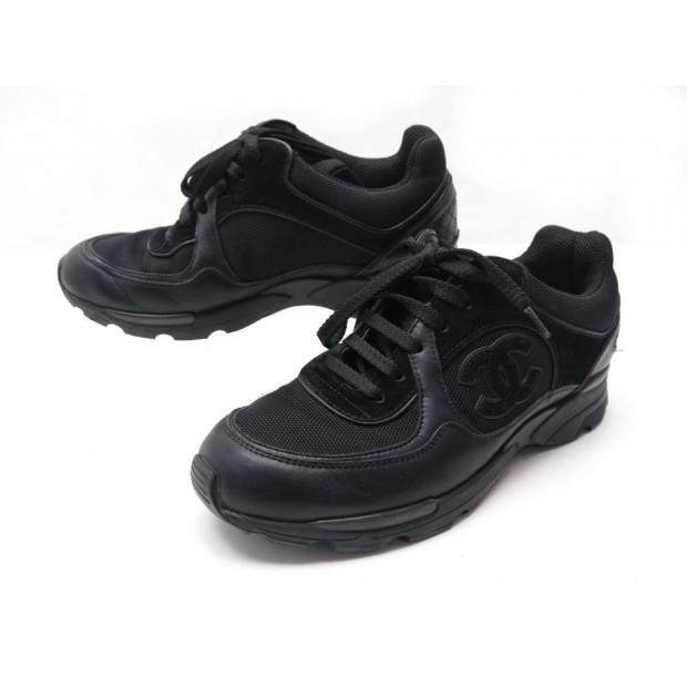 02adb287e04 chaussures chanel g26582 baskets 37 cuir toile