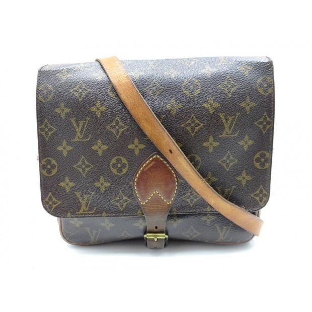 VINTAGE SAC A MAIN LOUIS VUITTON CARTOUCHIERE GM BESACE BANDOULIERE PURSE 1200€