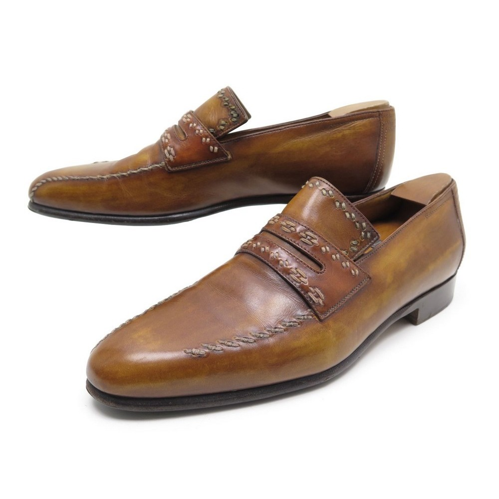 e0f421aebc6 CHAUSSURES BERLUTI MOCASSINS 9 43 CUIR MARRON BROWN LEATHER LOAFERS SHOES  1670€. Loading zoom