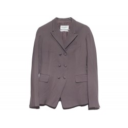 VESTE YVES SAINT LAURENT 274164 TAILLE 36 TAUPE LAINE BROWNISH GREY JACKET 1990€