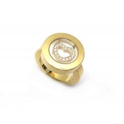BAGUE CHOPARD HAPPY DIAMONDS COEUR OR JAUNE 18CT DIAMANTS
