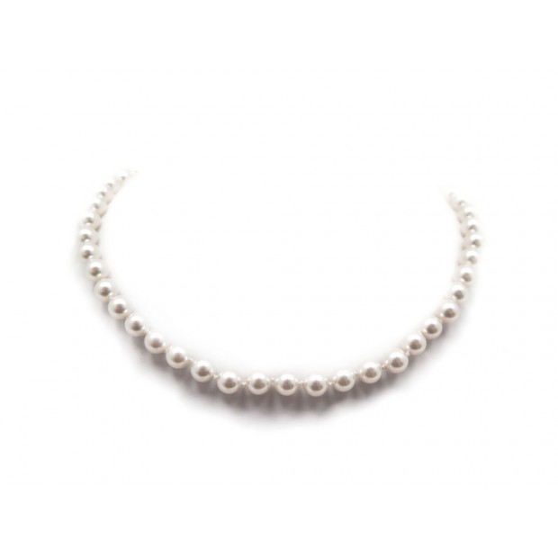 NEUF COLLIER CHANEL RAS DU COU 2018 EN PERLES NACREES PEARLS NECKLACE NEW 590€