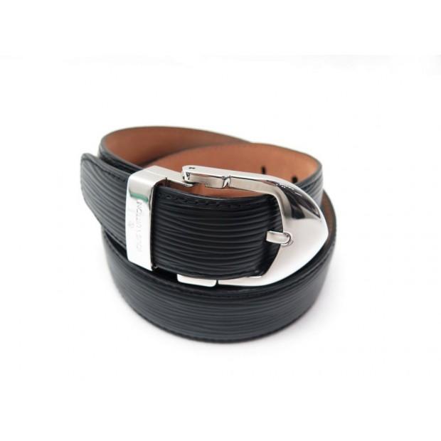 acheter en ligne b5586 e3fde ceinture louis vuitton t 90 en cuir epi noir new
