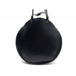 SAC A MAIN JEROME DREYFUSS HECTOR ROND EN CUIR NOIR BLACK CIRCLE HAND BAG 420€