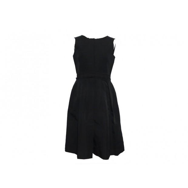 ROBE DOLCE & GABBANA TAILLE 46 IT 42 FR COTON NOIR SANS MANCHE BLACK DRESS 1750€