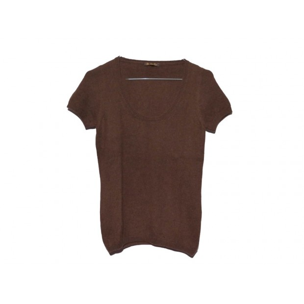PULL A MANCHES COURTES LORO PIANA T 40 IT 36 FR CACHEMIRE CASHMERE SWEATER 980€