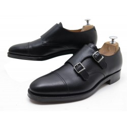 NEUF CHAUSSURES JOHN LOBB WILLIAM MOCASSINS 8.5E 42.5 EN CUIR GRAINE NOIR 1150€
