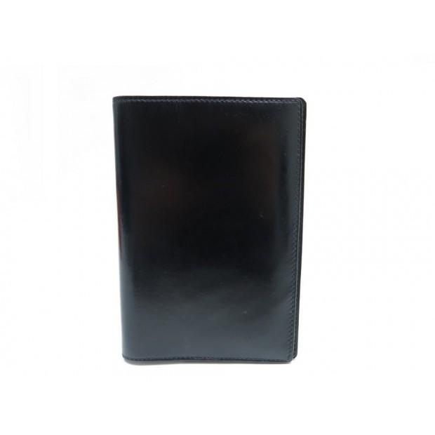 VINTAGE COUVERTURE D AGENDA HERMES SIMPLE GRAND MODELE CUIR BOX NOIR DIARY 313€