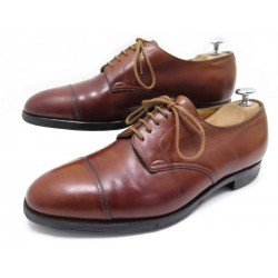CHAUSSURES JOHN LOBB DERAN DERBY 7.5E 41.5 LARGE CUIR MARRON LEATHER SHOES 1000€