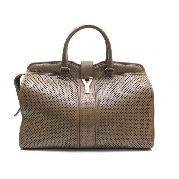 42fb391747 NEUF SAC A MAIN YVES SAINT LAURENT CHIC 275091 CUIR PERFORE PERFORATED  LEATHER