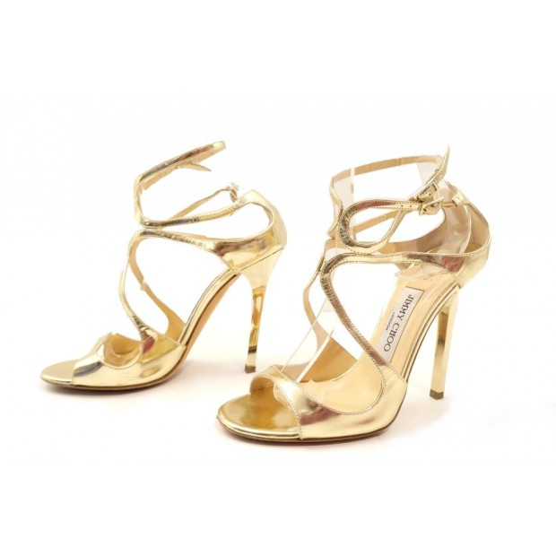 chaussures de séparation 23d38 26693 chaussures jimmy choo sandales a talons 36.5 cuir