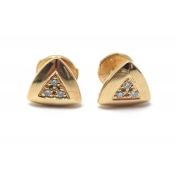 BOUCLES D'OREILLES MAUBOUSSIN DREAM AND LOVE EN OR JAUNE DIAMANTS EARRINGS 690€