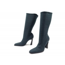 NEUF CHAUSSURES DOLCE & GABBANA BOTTES CHAUSSETTES 40.5 FLANELLE GRIS BOOTS 895€