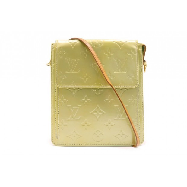 SAC A MAIN LOUIS VUITTON MOTT POCHETTE EN CUIR VERNI MONOGRAM VERT PURSE 900€