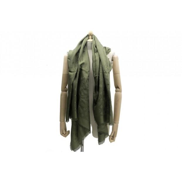 chale louis vuitton m75698 kaki monogram foulard 38d97646c6b