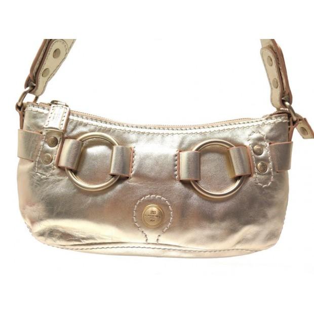 5ccf10844a sac a main lancel pochette en cuir dore pochon