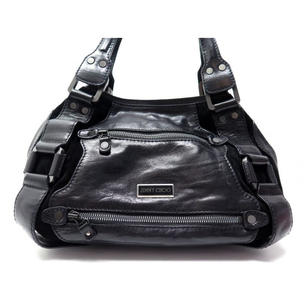c0c4070431 sac a main jimmy choo en cuir noir new black